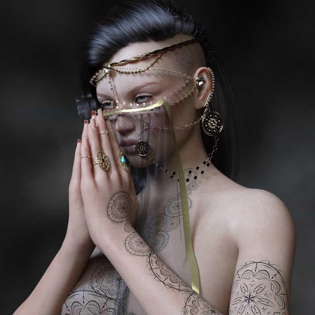 harem, indian, piercing