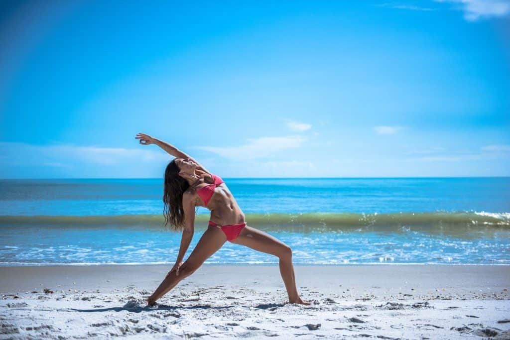 yoga, pose, stretch